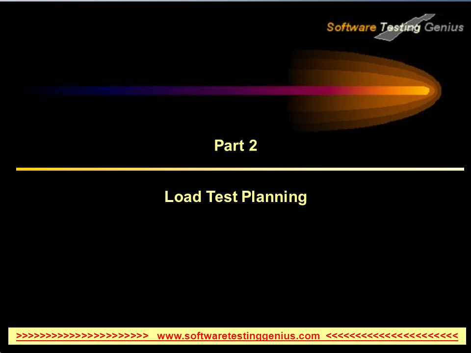Part 2 Load Test Planning