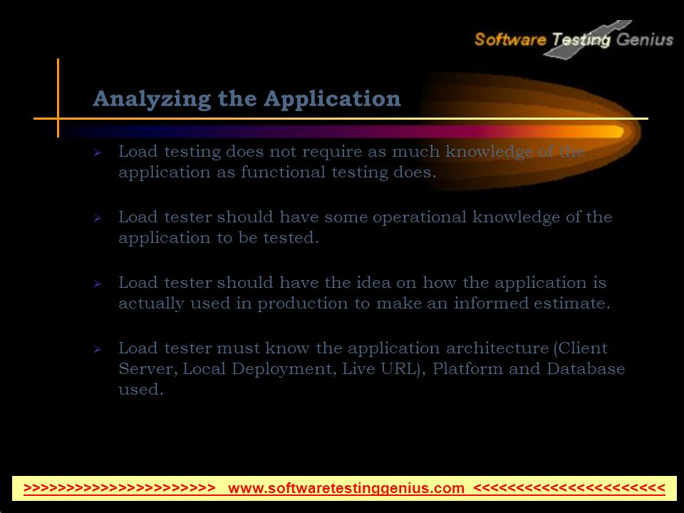 Analyzing the Application