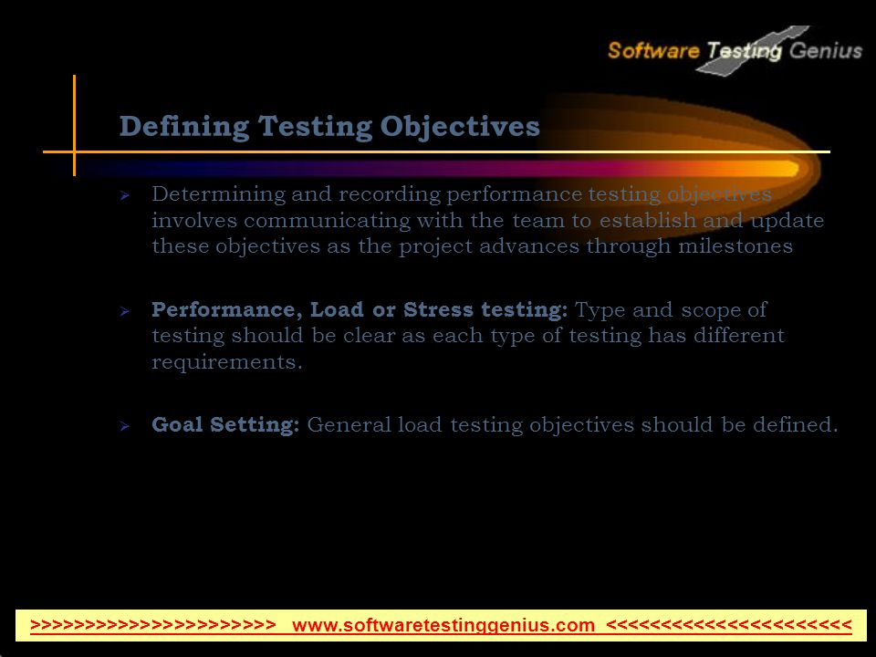 Defining Testing Objectives