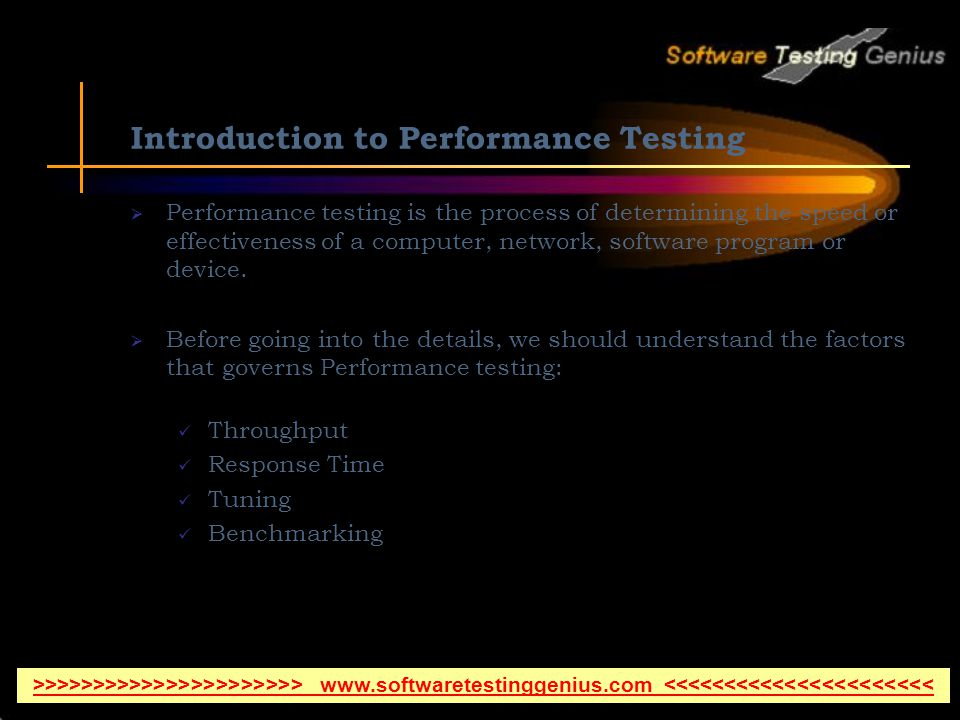 Introduction to Performance Testing