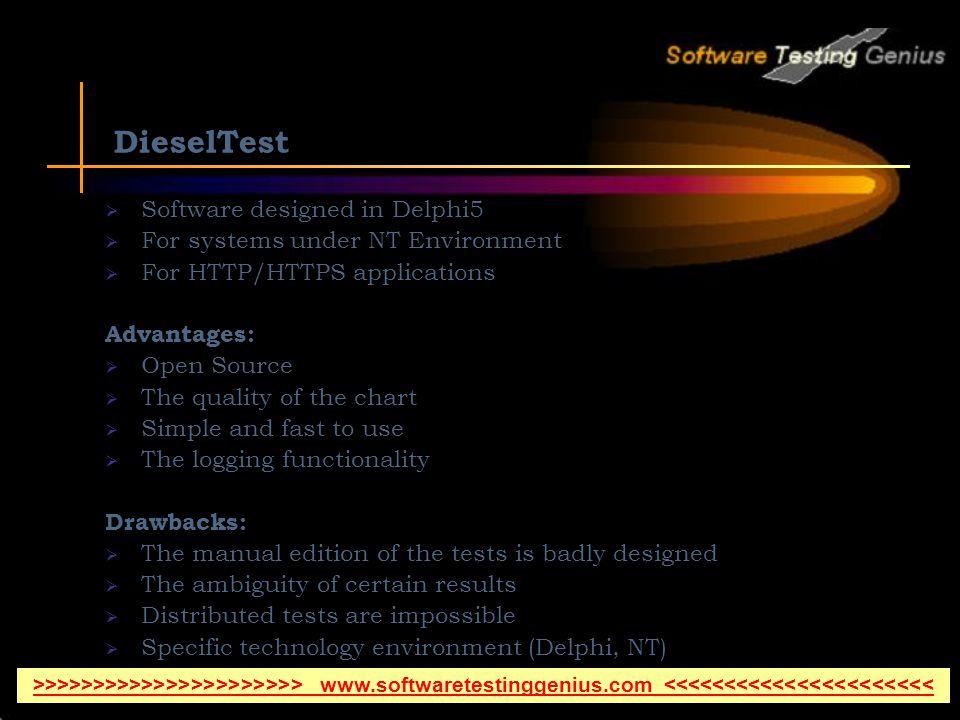 DieselTest Software designed in Delphi5