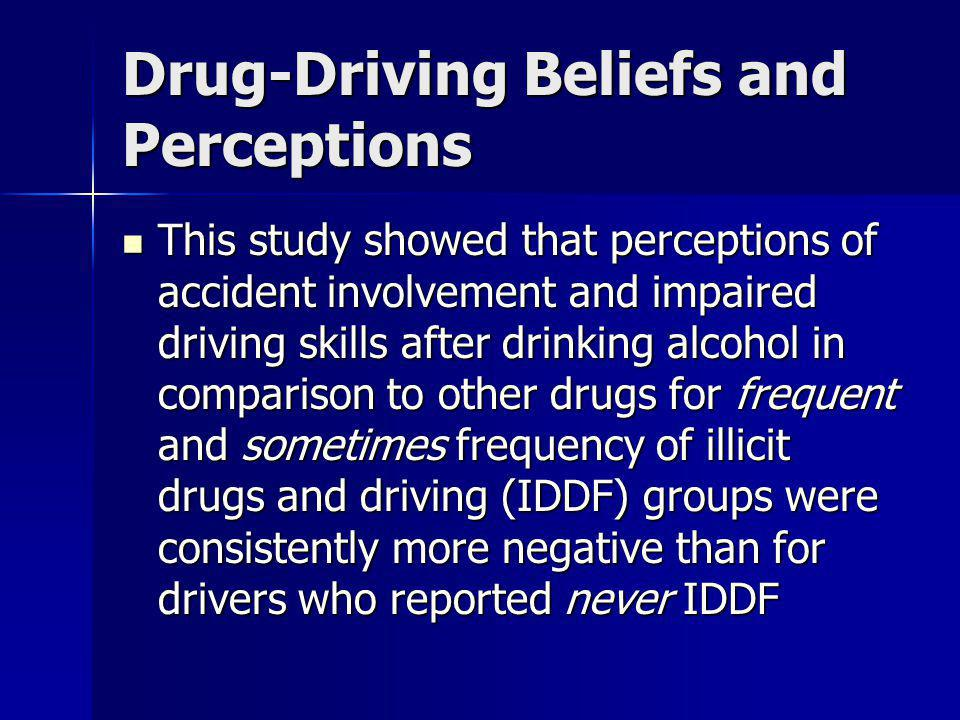 Drug-Driving Beliefs and Perceptions