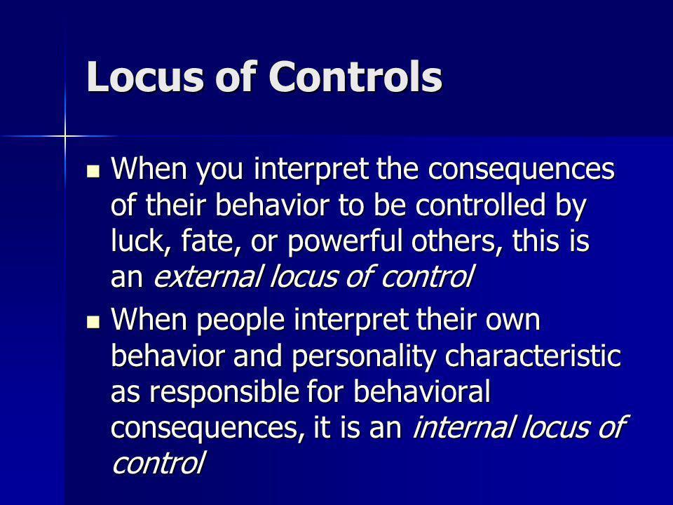 Locus of Controls