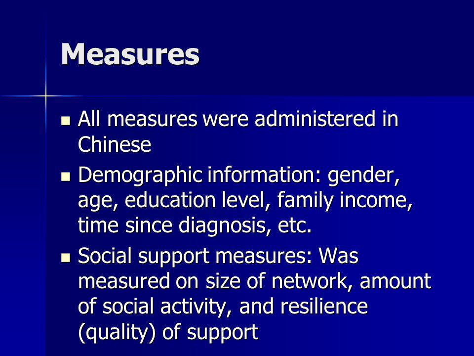 Measures All measures were administered in Chinese