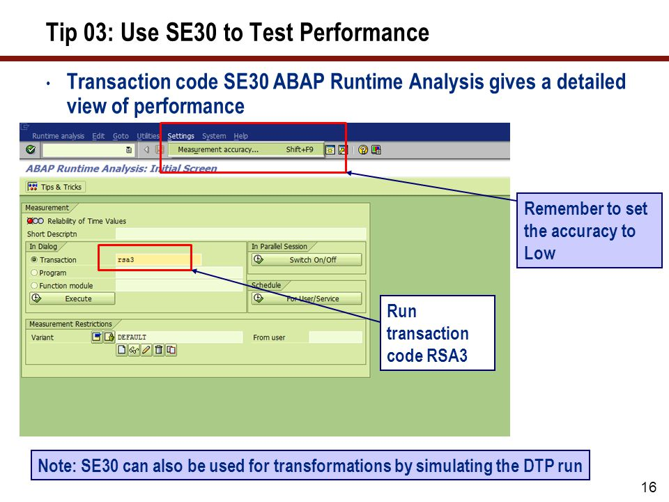 Tip 03: Use SE30 to Test Performance (cont.)