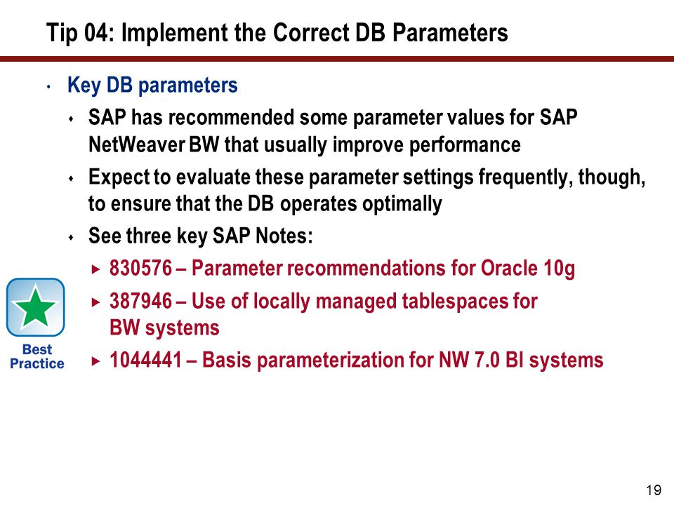 Tip 05: Manage Database Statistics