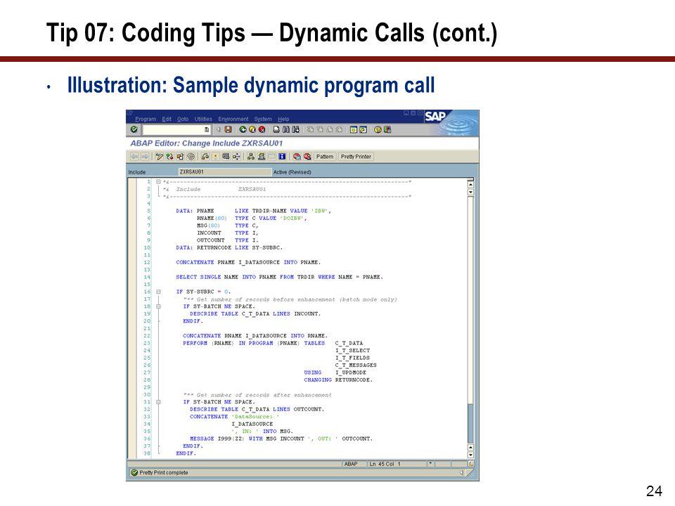 Tip 08: Coding Tips — Field Symbols