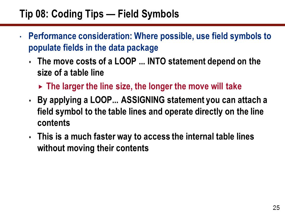 Tip 08: User Exit — Field Symbols