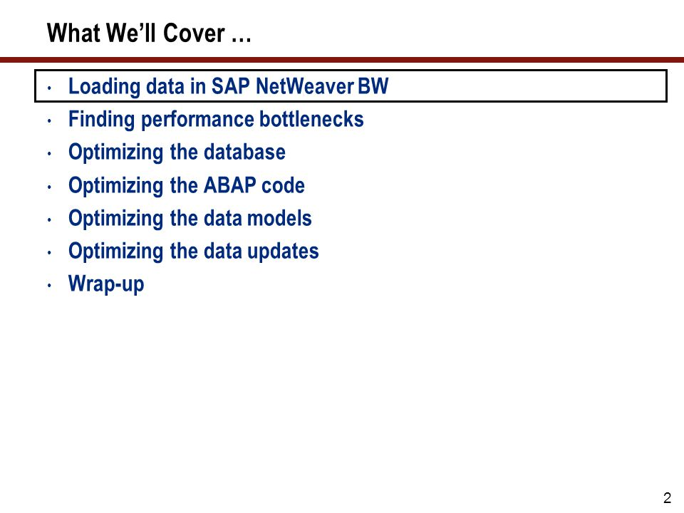SAP NetWeaver BW Data Load Processing Overview