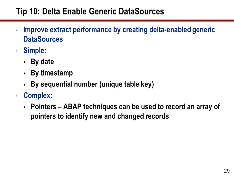 Tip 10: Delta Enable Generic DataSources (cont.)