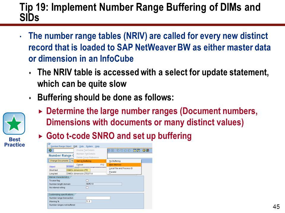 Tip 20: Implement SAP NetWeaver BW Accelerator