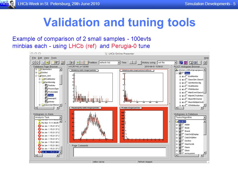 Validation and tuning tools