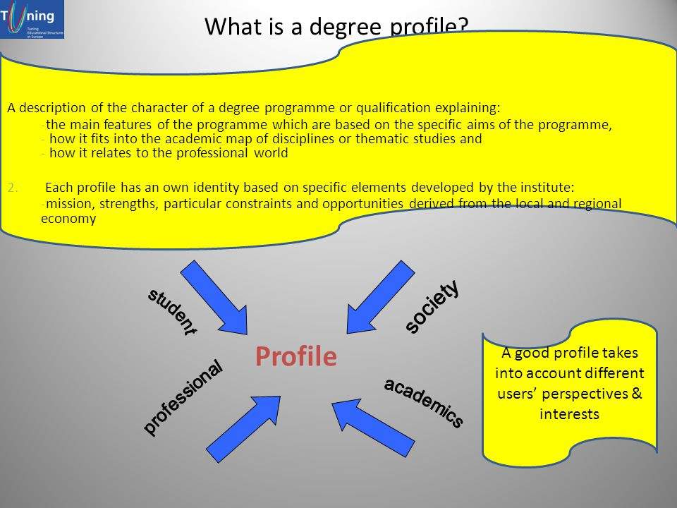 What is a degree profile