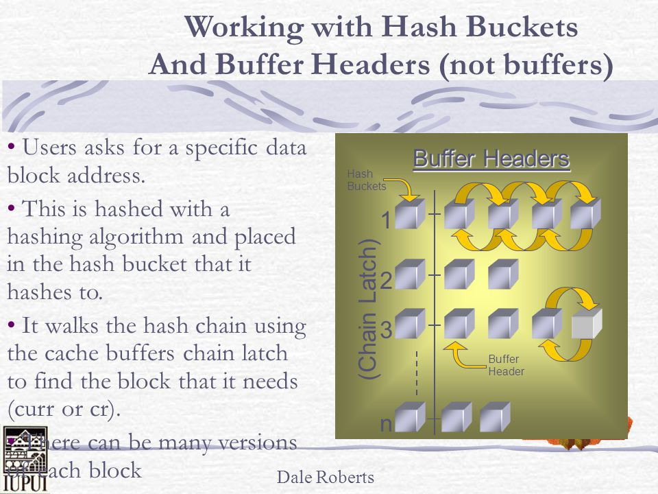 Working with Hash Buckets And Buffer Headers (not buffers)