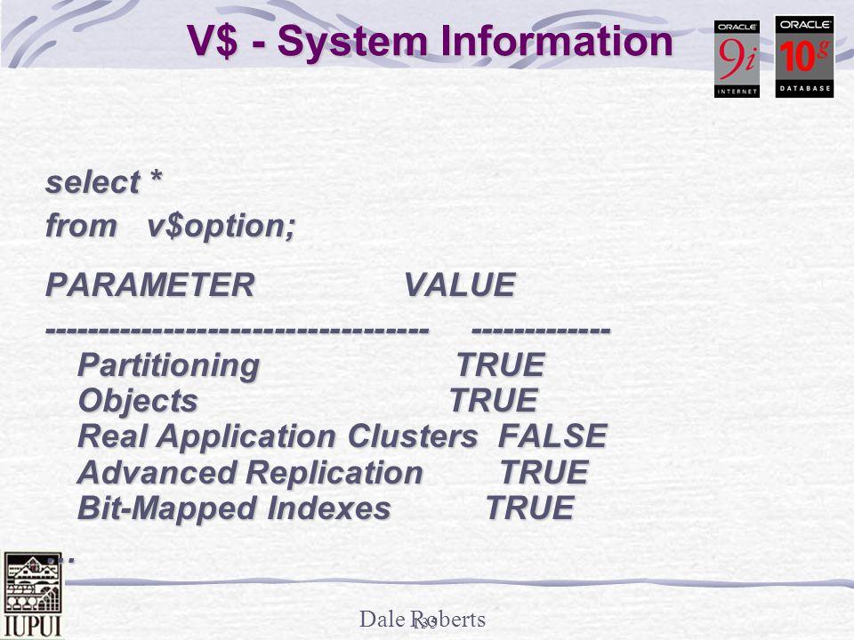V$ - System Information