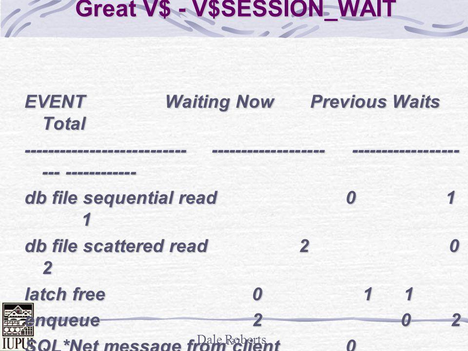 Great V$ - V$SESSION_WAIT