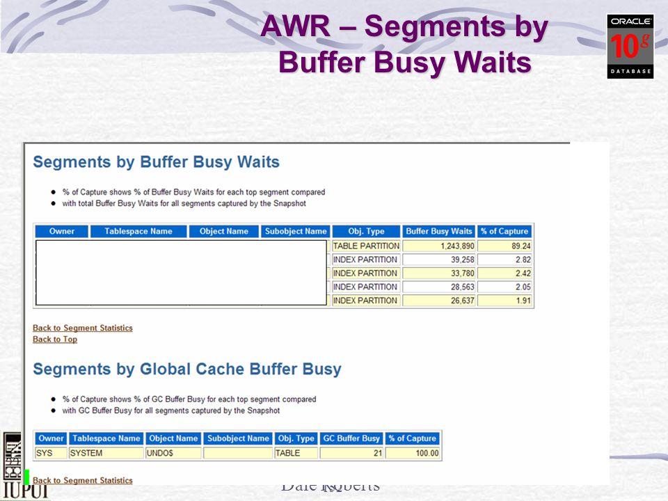 AWR – Segments by Buffer Busy Waits