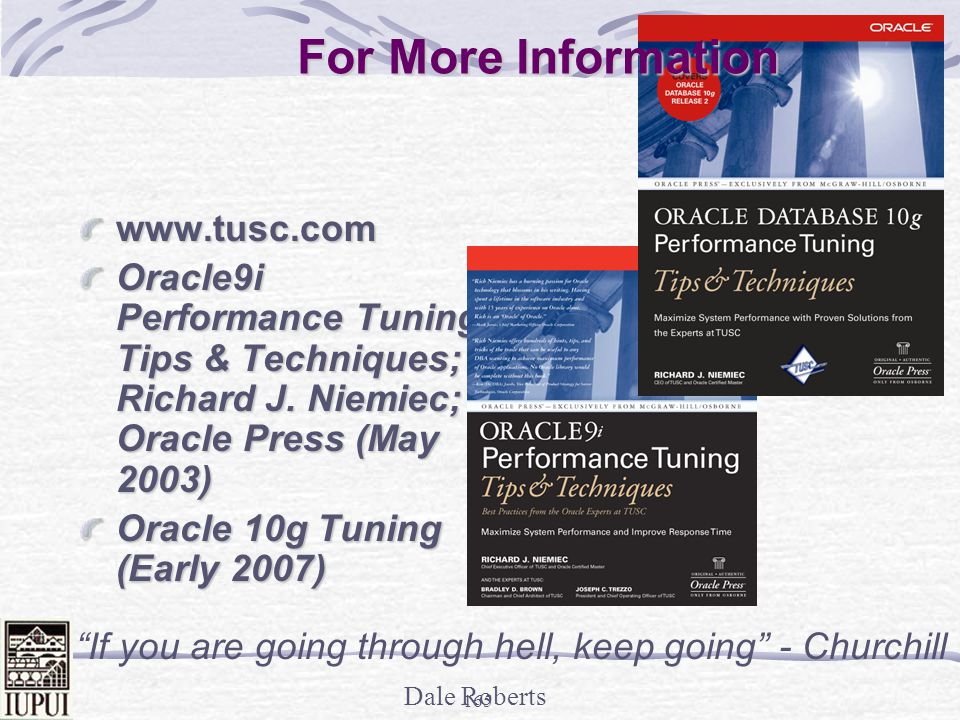 For More Information www.tusc.com
