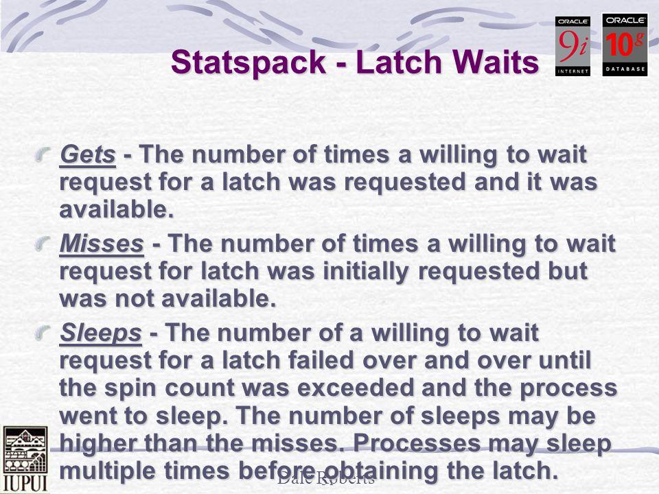 Statspack - Latch Waits