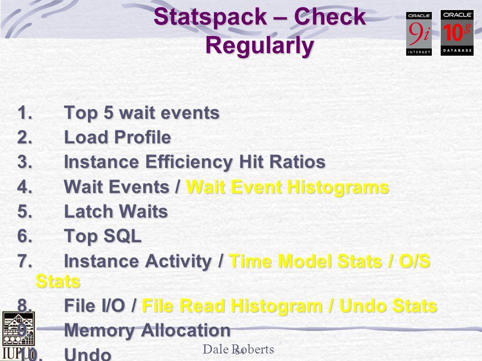 Statspack – Check Regularly