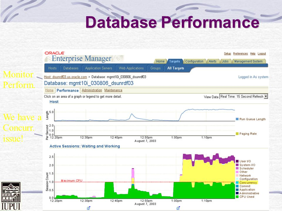 Database Performance Monitor Perform. We have a Concurr. issue!