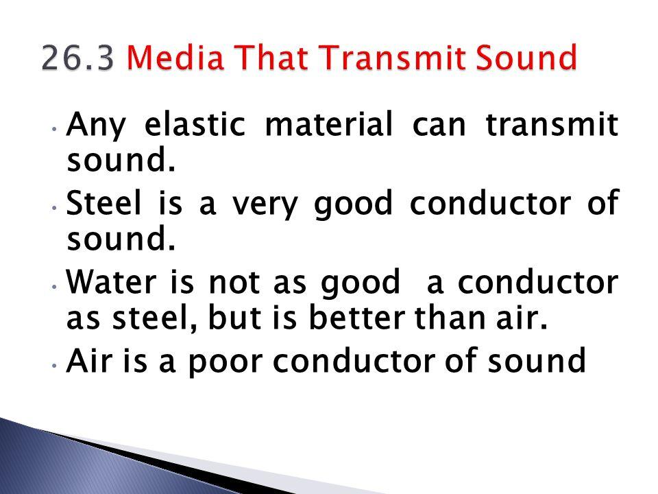 26.3 Media That Transmit Sound