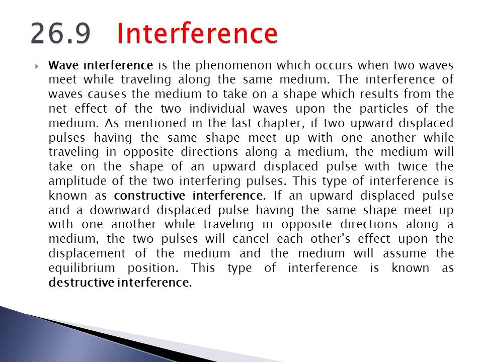 26.9 Interference