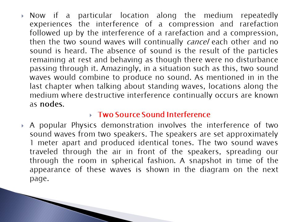 Two Source Sound Interference
