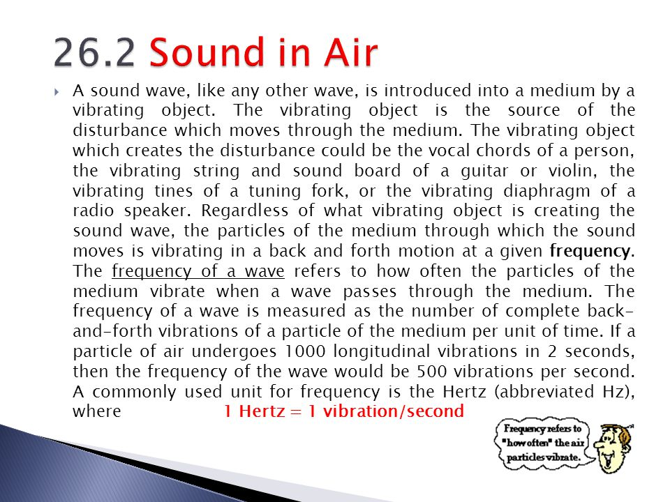 26.2 Sound in Air