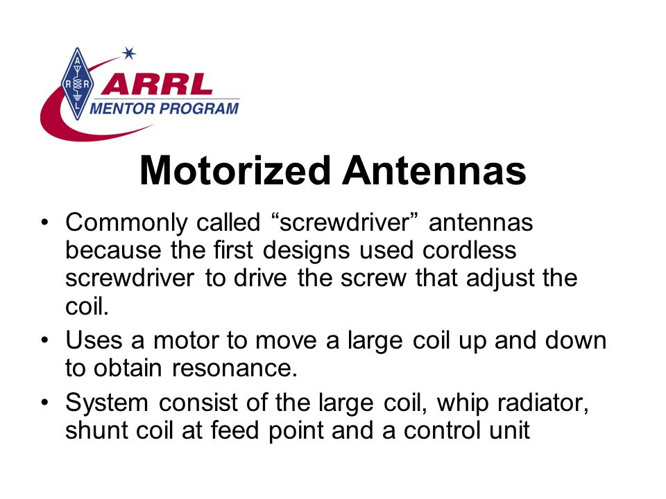 Motorized Antennas