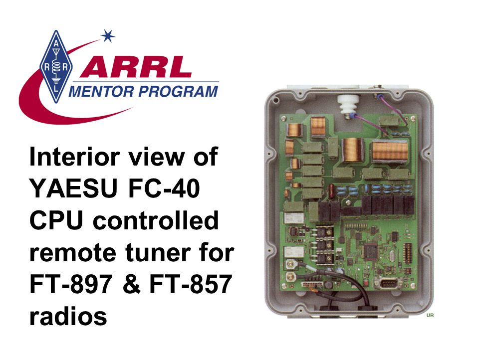 Interior view of YAESU FC-40 CPU controlled remote tuner for FT-897 & FT-857 radios