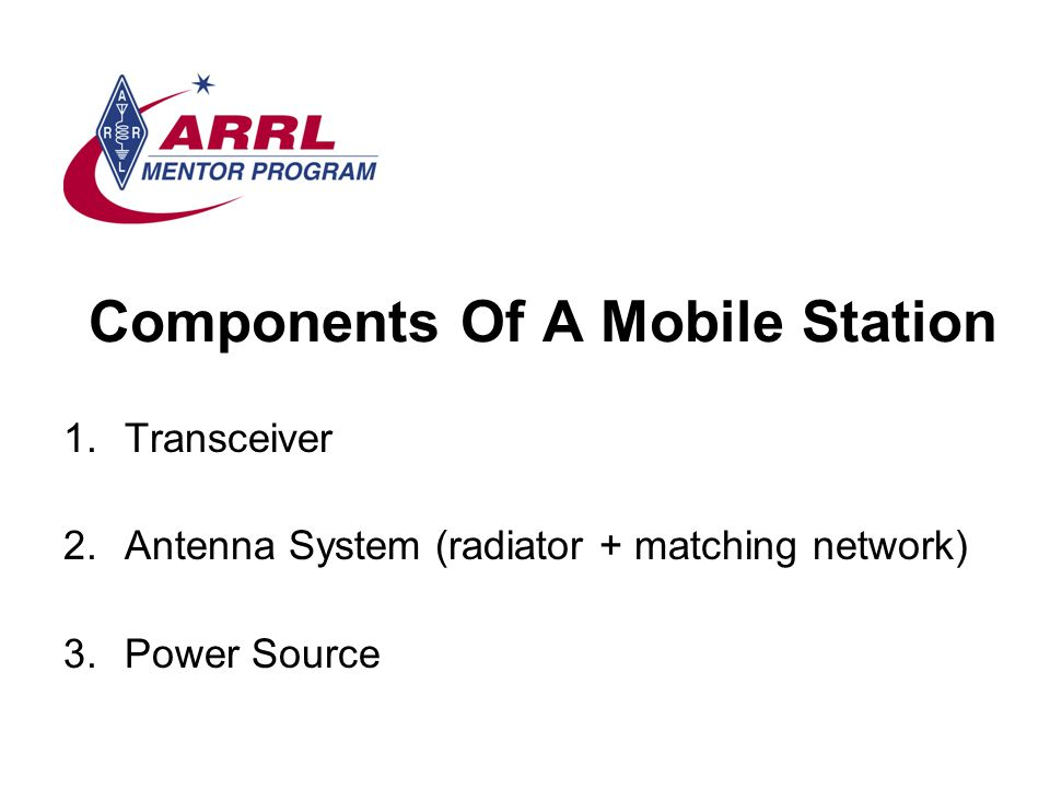 Components Of A Mobile Station