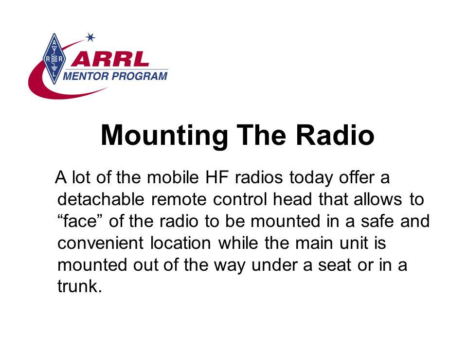 Mounting The Radio