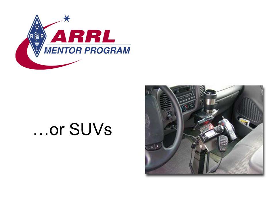 …or SUVs