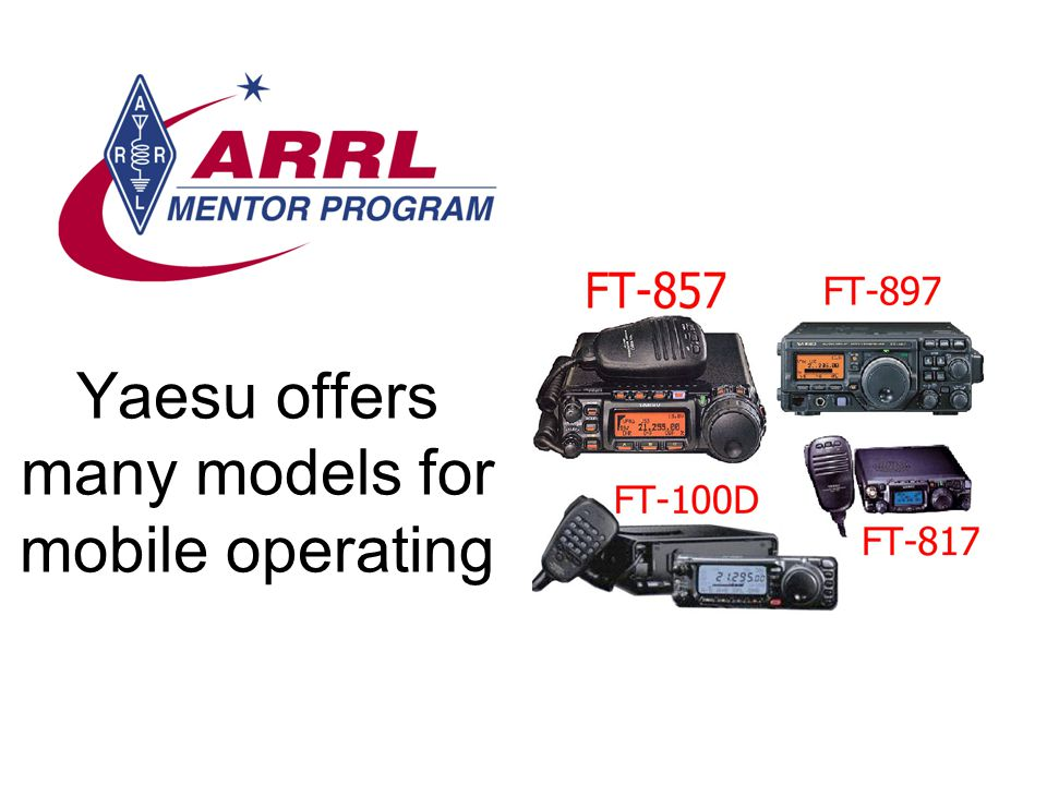 Yaesu offers many models for mobile operating