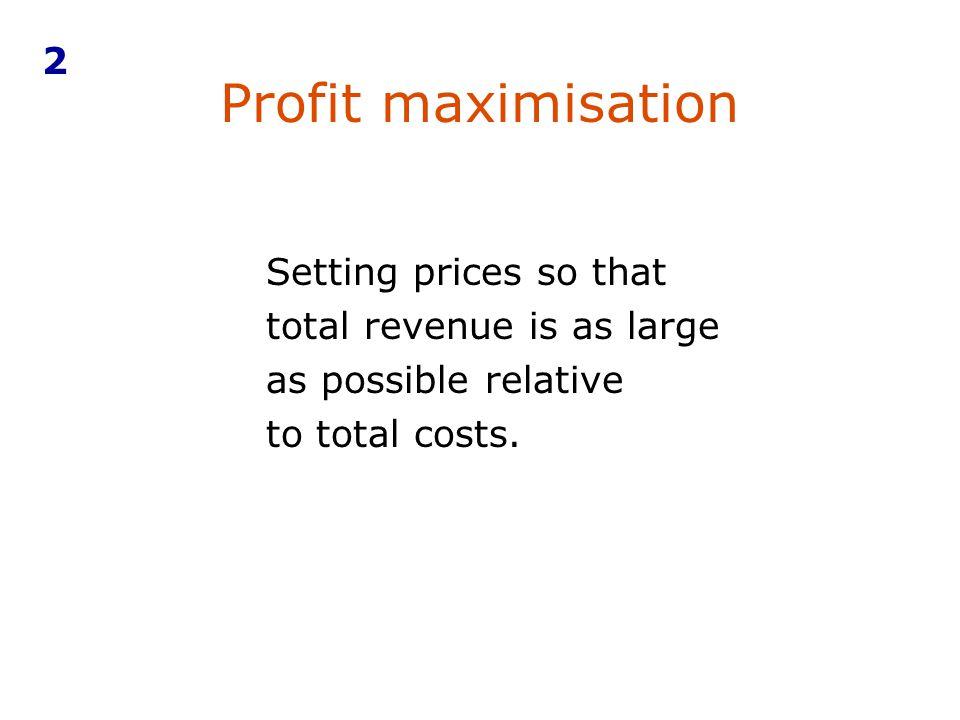 2 Profit maximisation.