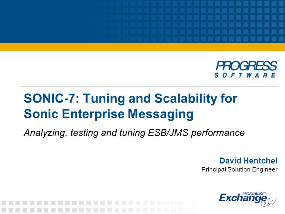 SONIC-7: Tuning and Scalability for Sonic Enterprise Messaging