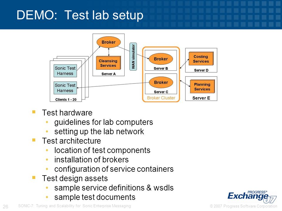 DEMO: Test lab setup Test hardware guidelines for lab computers