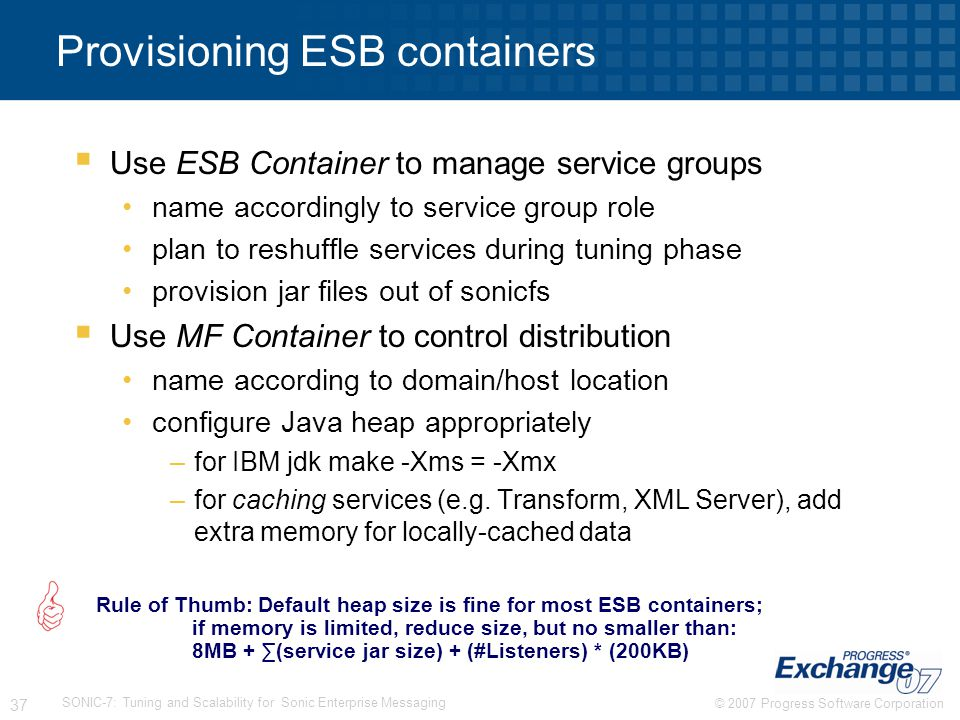 Provisioning ESB containers