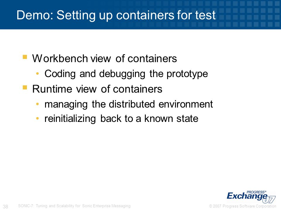 Demo: Setting up containers for test