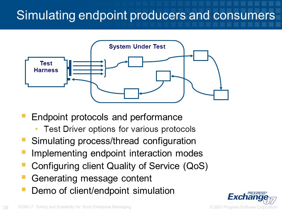 Simulating endpoint producers and consumers