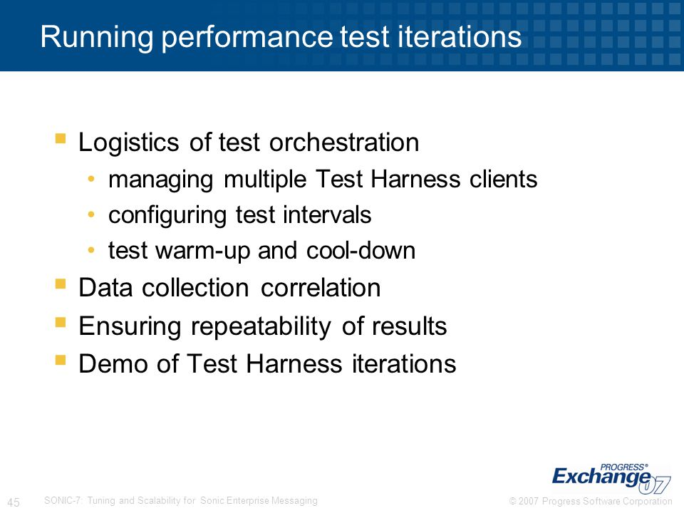 Running performance test iterations