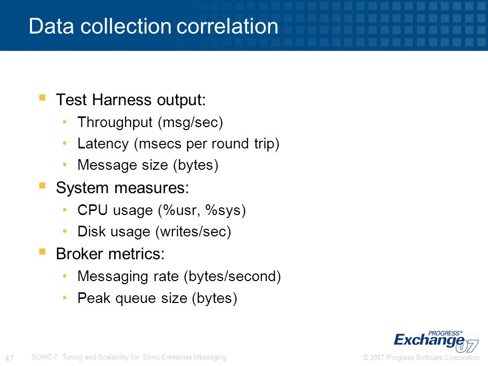 Data collection correlation