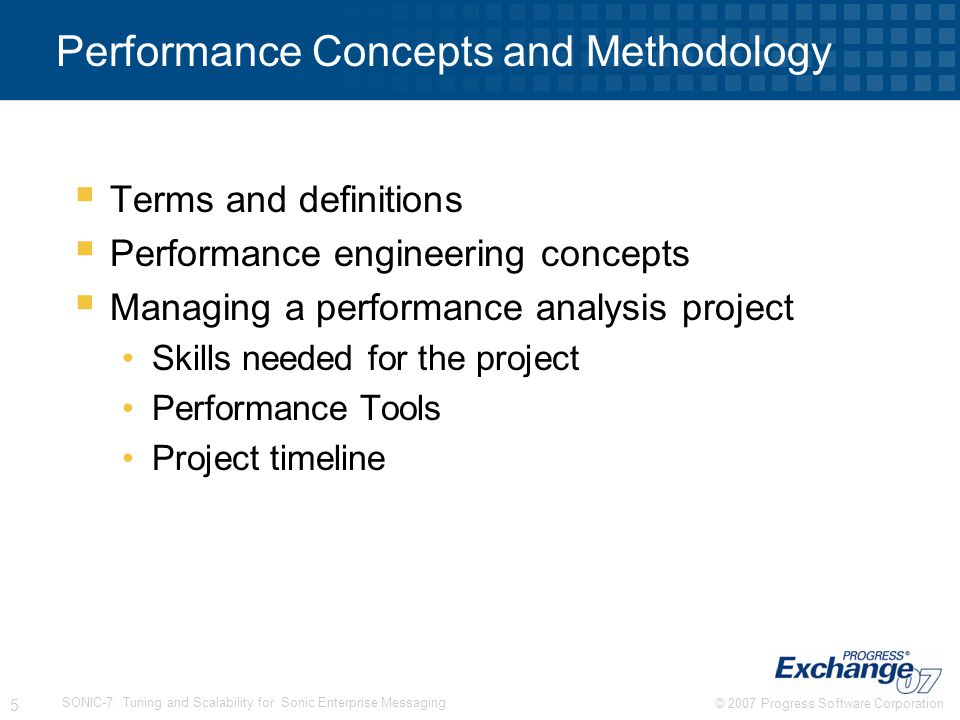 Performance Concepts and Methodology