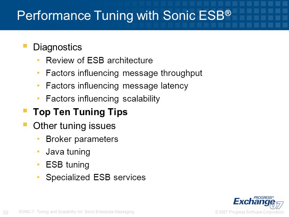 Performance Tuning with Sonic ESB®