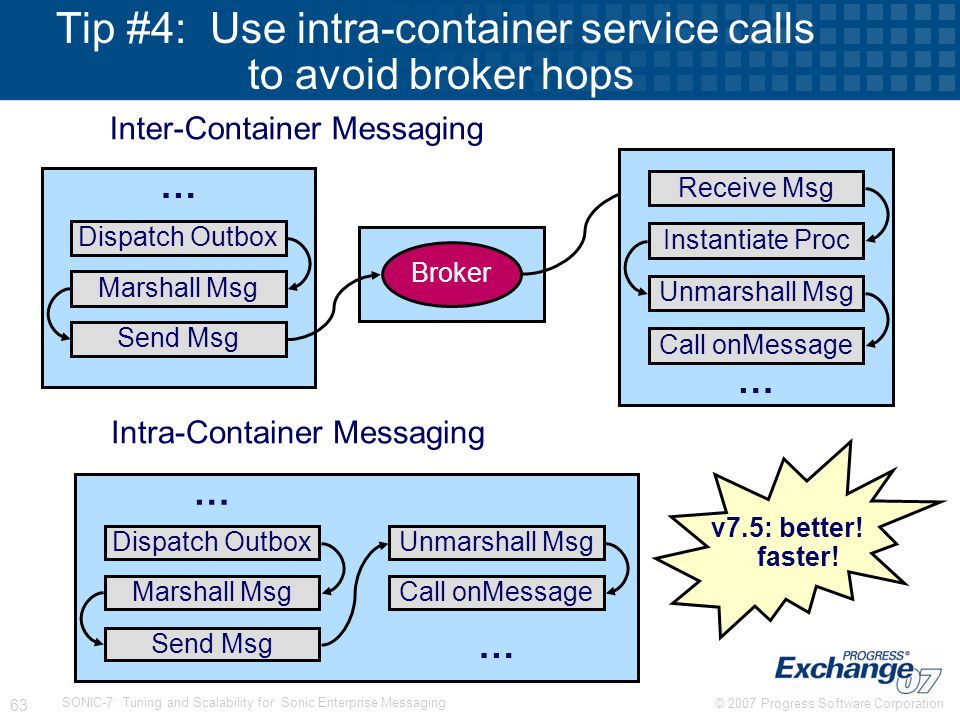 Tip #4: Use intra-container service calls to avoid broker hops