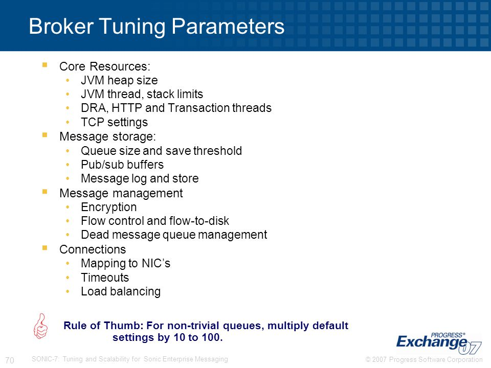 Broker Tuning Parameters