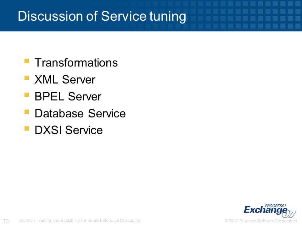 Discussion of Service tuning