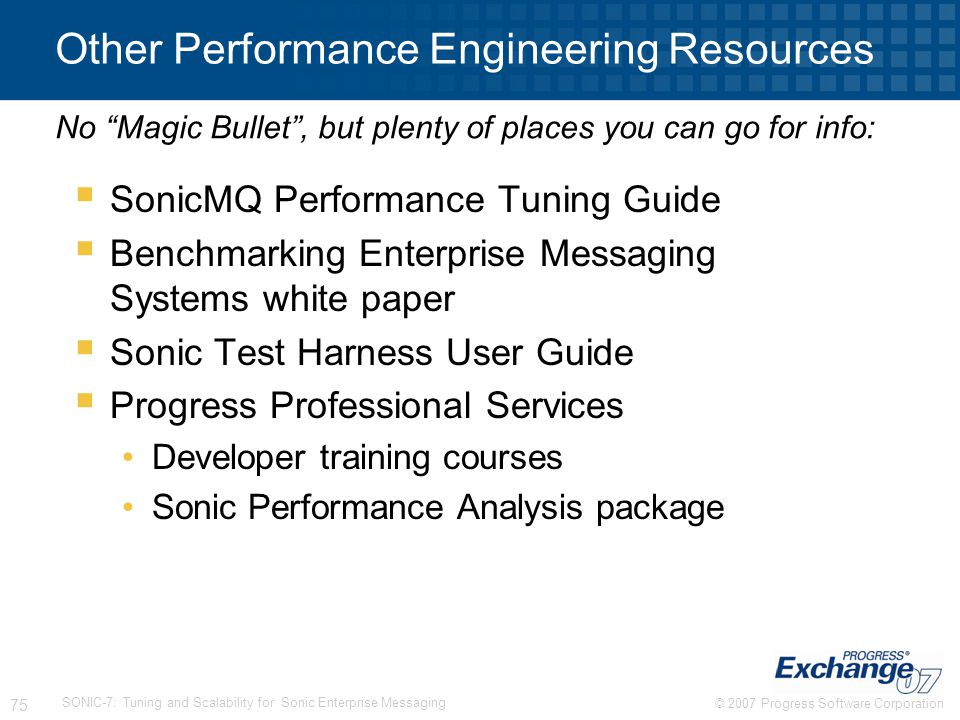 Other Performance Engineering Resources