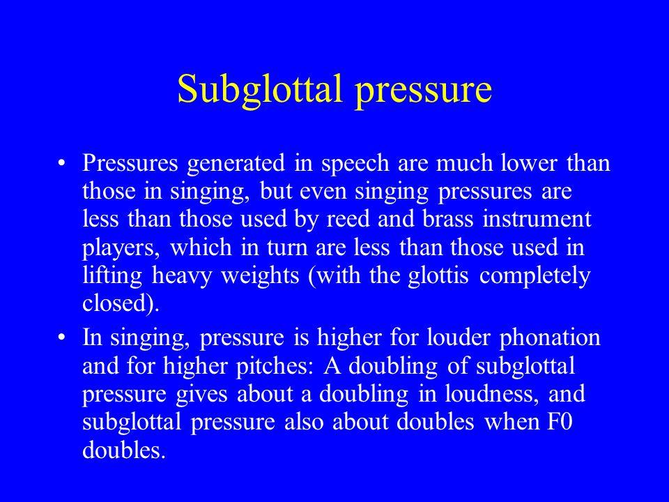 Subglottal pressure